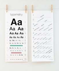 Typometry Screen Printed Eye Chart For Typography Lovers