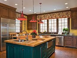 red kitchen pendant light lights