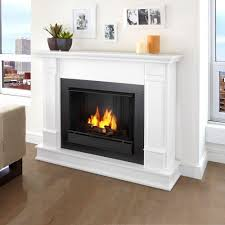 gel fuel fireplace in white