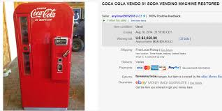 Used Vending Machines Ebay Impressive Most Expensive Coca Cola Sold On EBay August 48