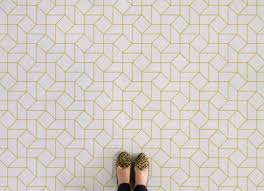 Patterned Vinyl Tiles New Statement Flooring On A Budget Design Trends Inspiration Patterned
