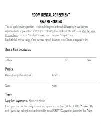 One Page Lease Agreement Simple One Page Lease Agreement Free Printable Rental Form