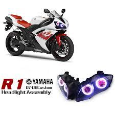 yamaha r6 2008 2014 dual angel eye hid projector custom headlight yamaha yzf r1 dual angel eye hid projector led headlights 2007 2008