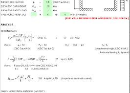 elevator masonry wall design