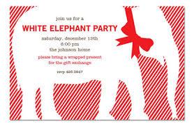 white elephant gift invitation.  Elephant White Elephant Party Invitation Christmas Invitations Inside Gift W