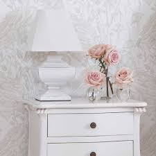 Squat Shabby Chic Lamp. White Wood Light