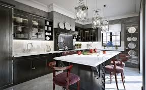 galley kitchen renovation design ideas. elegant black and white galley kitchen renovation design ideas with awesome rectangular marble top island including velvet upholstered chair also