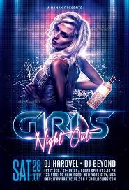 Free Flyer Template Download Girls Night Out Flyer Template Download Electro And Dj