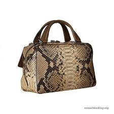 ... coach bleecker python small toaster satchel natural 8884280