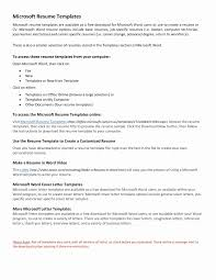 Resume Cover Letter Template Free Microsoft Word Resume Template