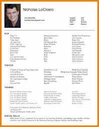 Acting Resume Awesome Actors Resume Sampleacting Resume Sample Pretty Design Acting