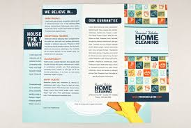 cleaning service advisement flyers how to create a professional brochure plus 40 superb templates that