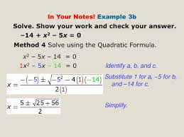 solve show your work and check your answer 14 x2 5x
