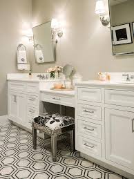 Vanity Stools For Bathrooms Extraordinary Mirrored Vanity Stool Transitional Bathroom Regarding Remodel 48