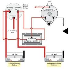 battery selector switch wiring diagram dual battery switch at Marine Battery Isolator Wiring Diagram