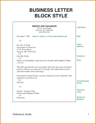 5 Block Style Business Letter Example Attorney Letterheads