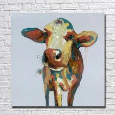 100 hand painted canvas pictures modern abstract cow oil paintings modern decoration wall art living