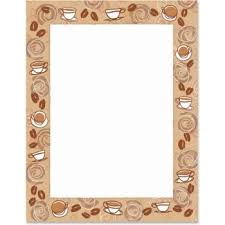 coffee beans border clipart. Exellent Coffee Coffee Bean PaperFrames  Paper Direct Throughout Beans Border Clipart S