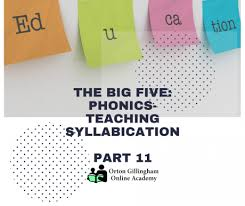 Phonics Generalizations Chart The Big Five Phonics Teaching Syllabication Orton