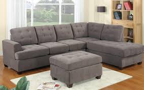 uncomfortable couch. 2 Piece Modern Reversible Grey Tufted Microfiber Sectional Sofa With Ottoman - Walmart.com Uncomfortable Couch