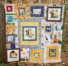 Small and Large Retro Storybook Dick and Jane Quilts | & Small and Large Retro Storybook Dick and Jane Quilts Adamdwight.com