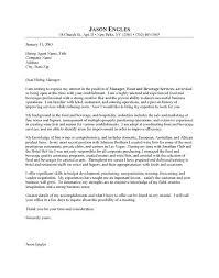 Hospitality Resume Cover Letter Resume Example Sample Cover Letter