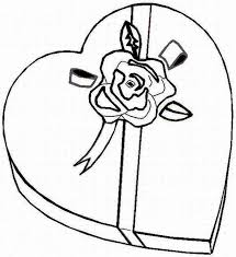 Small Picture Valentine Chocolate Coloring Pages Bestofcoloringcom