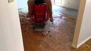 glued down engineered wood floor removal