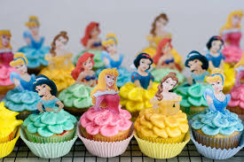 Disney Princess Cupcakes With Sprinkles On Top