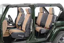 what are the differences in jeep seat cover materials