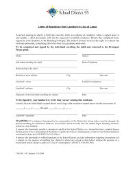 Letter Of Residence From Landlord In Lieu Of Lease Edit Fill