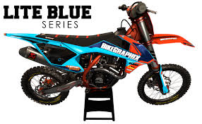 motocross graphics ktm sxf lite blue image