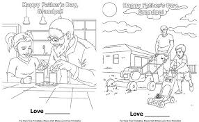 fathers day coloring pages for grandpa set 2 free printable page able cards