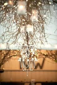 tree branch chandelier rustic crystal large burn baby metal