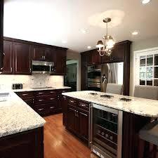 kitchen dark cabinets light granite contemporary kitchen chocolate cabinets light granite design pictures remodel decor and