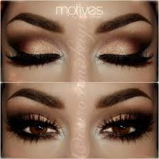 beautiful we shadow look with brown and gold eye shadow