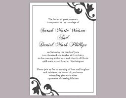 diy wedding invitation template. diy wedding invitation template editable text word file download printable black invitations diy t