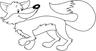 Arctic Fox clipart tundra animal - Pencil and in color arctic fox ...