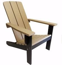 two tone modern adirondack chairs  evergreen patio