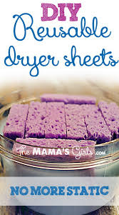 diy reusable sponge dryer sheets with fabric softener