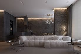 Luxurious Apartment Design With Sexy Dark Interior Style - RooHome ...