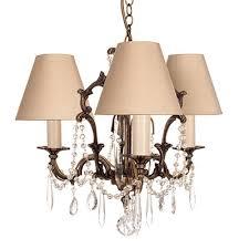 brass pendant chandelier crystal