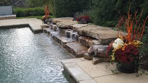pool rock water fall water feature