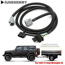 65 trailer tow hitch wiring harness kit 4 way for 07 17 jeep 65 trailer tow hitch wiring harness kit 4 way for 07 17 jeep