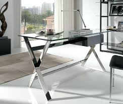 Contemporary glass office Glass Desk Glass Office Table Alluring Modern Glass Office Desk Contemporary Glass And Steel Desk Ideas Office Architect Mainevent Glass Office Table Mymirageinfo