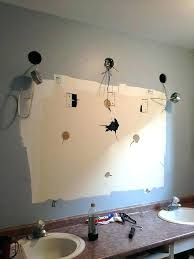 remove mirror glued to wall bathroom how to remove wall mirror in bathroom with clips also