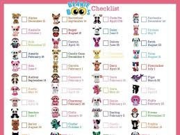 Beanie Boo Checklist Instant Download 8 X 10 5 By Bee3shop