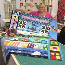 Row by Row — The Quilt Shop by Lois & Susan Muraik of Newburgh, N.Y., brought in her finished quilt and was the