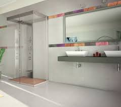 designing bathroom layout:  modern bathroom ideas wonderful layout design and white wall paint color mounted mirror also calm vanity