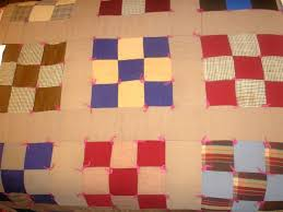 Quilts and Patches & This early quilt is a nine-patch, hand tied rather than machine or hand  quilted. Adamdwight.com